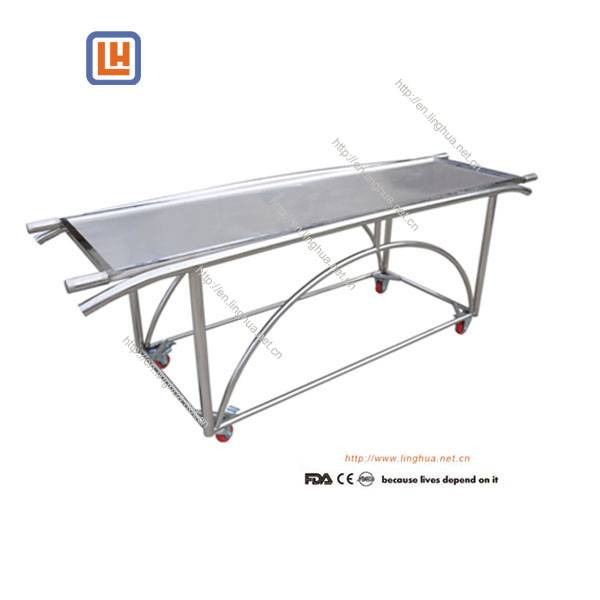 Mortuary Products Stainless Steel Corpse Cart with Stretcher