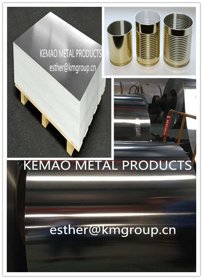 SPCC MATERIAL CHINA SUPPLIER JIANGYIN KEMAO SPTE/ETP TIN PLATE COIL/SHEETS/STRIPS  PRICE FOR EMPTY M