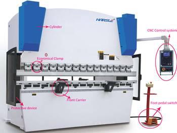 WC67K hydraulic press brake, bending machine