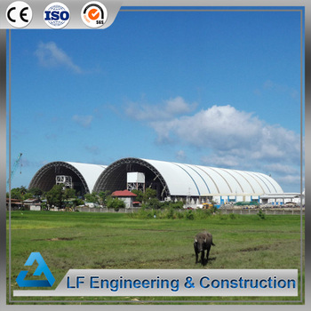 Steel space frame industrial arch prefab coal storage