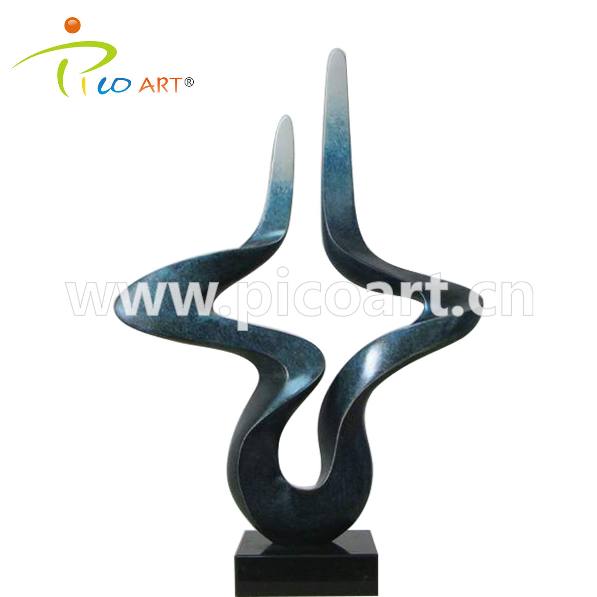 Handmade Abstract Polished Interior Eletro Plating Polyester Resin Sculpture