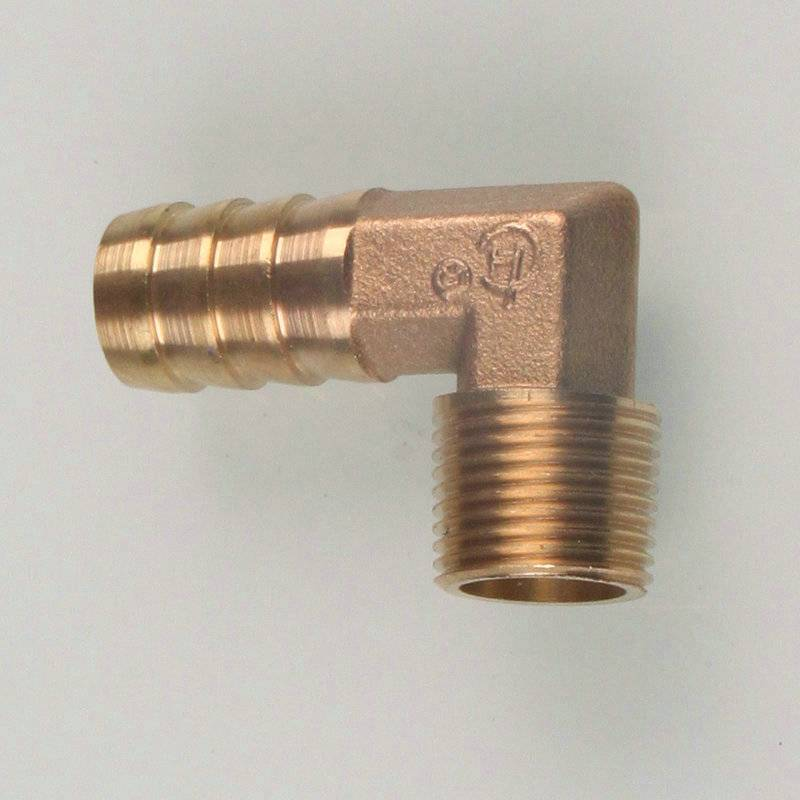 Brass Hose Elbow 90 Degree Fitting Barb Union