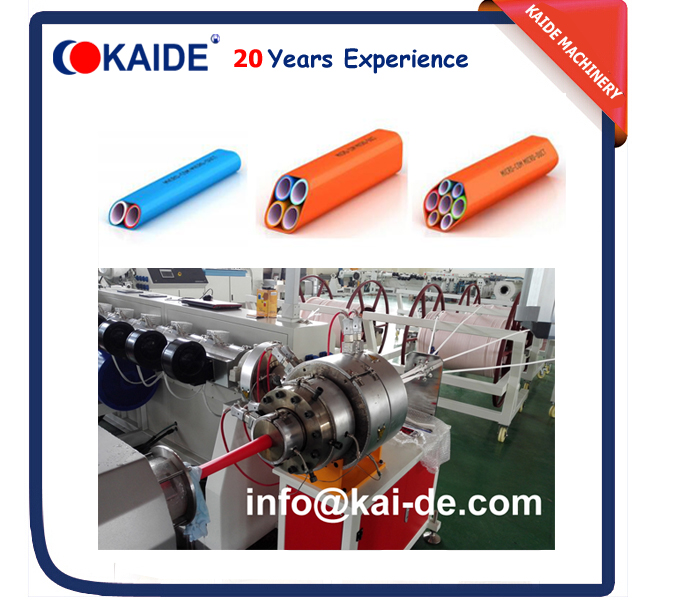 Microducts bundles extrusion machine