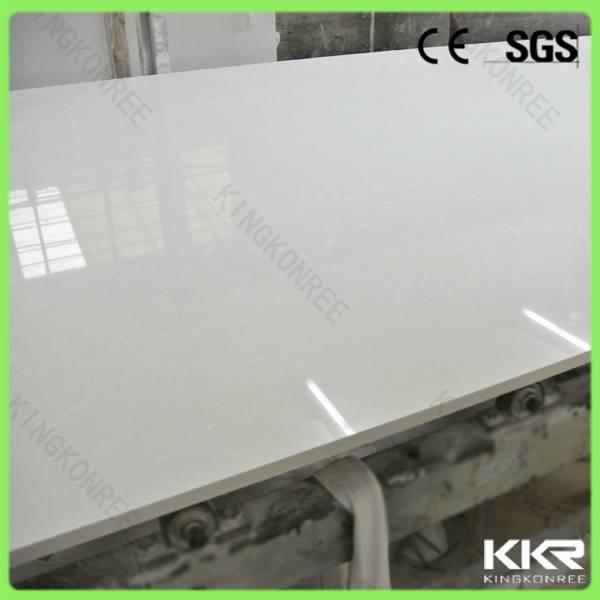 No Bubble Pure White Engineered Quartz Stone Quartz Flooring Tile