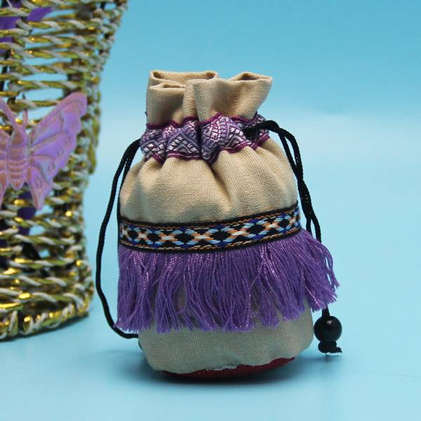 custom made small size drawstring cotton jewelry pouch bag