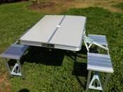HXLK-044 Outdoor portable aluminum folding table