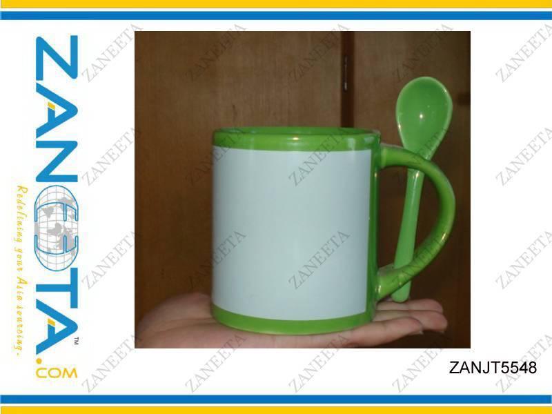 subliamtion  mug with spoon