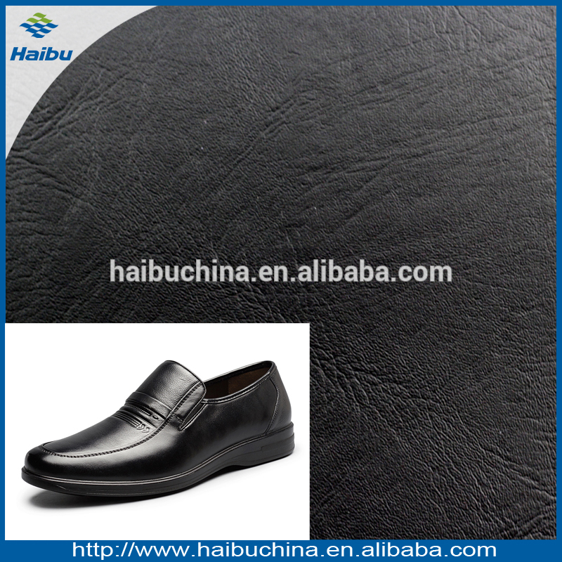 Abrasion-Resistant PVC Synthetic Leather for Man Shoe