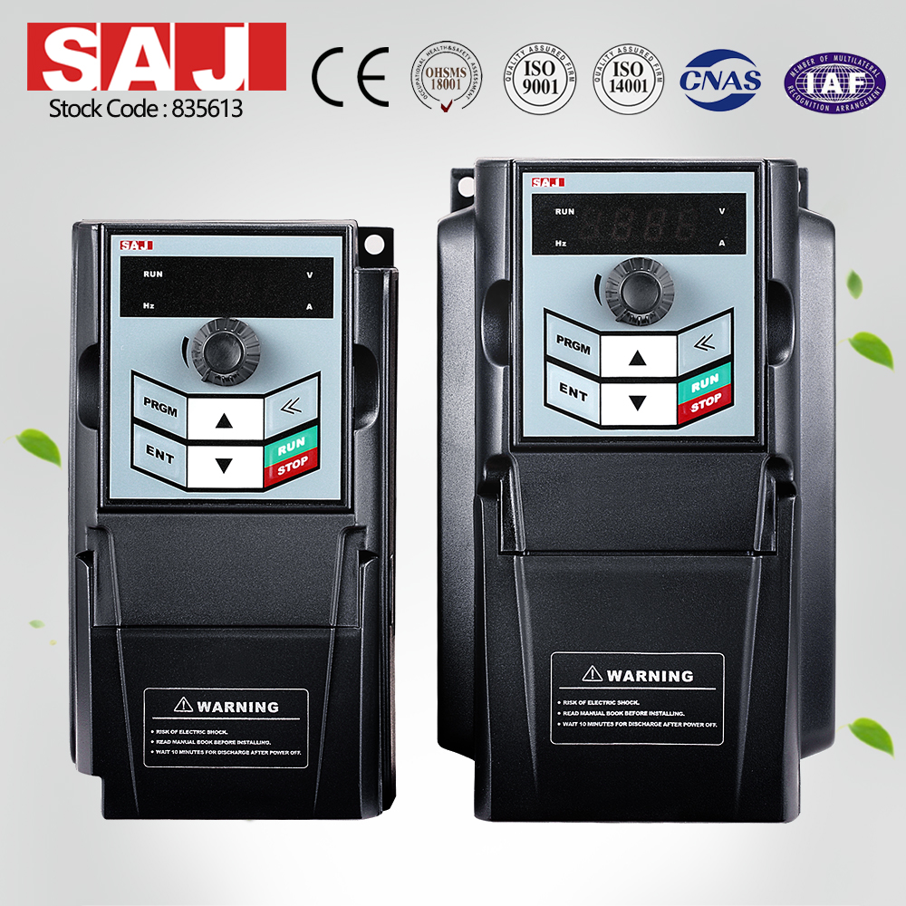 SAJ frequency inverter for AC motor control of 1.5KW