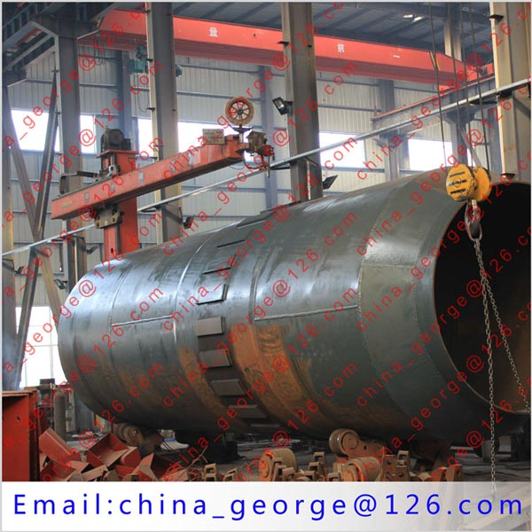 Large capacity hot sale chromium rotary kiln sold to Aktube