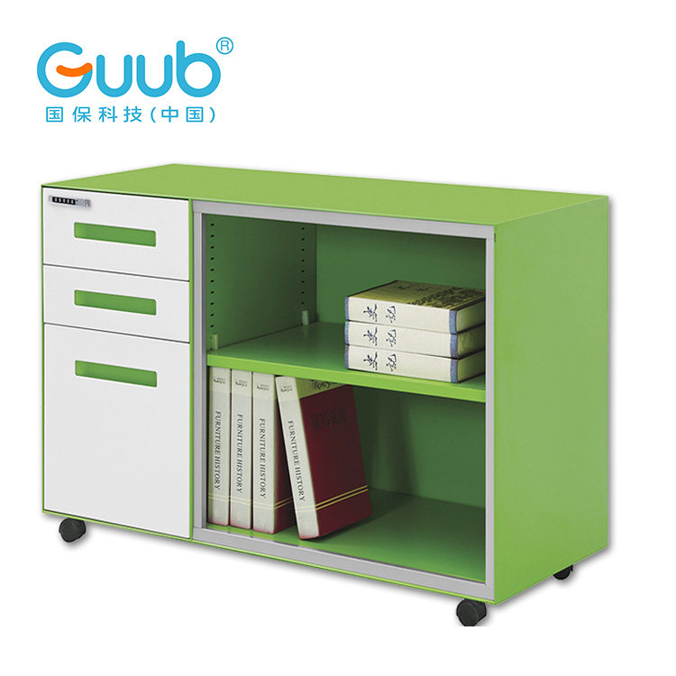 Factory Price Office Mobile Storage Caddy With Tambour Door