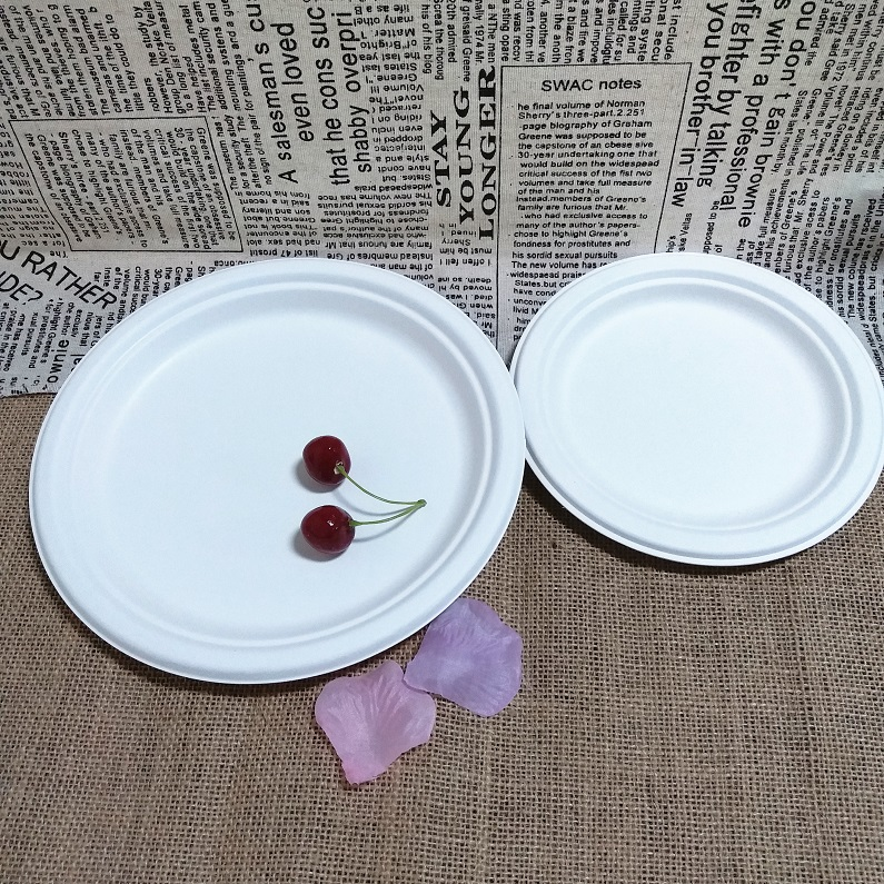 Wholesale Bagasse Dinnerware Restaurant Round Biodegradable Dinner Plate