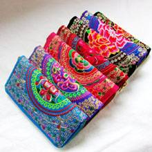 Embroidered Wallet Purse