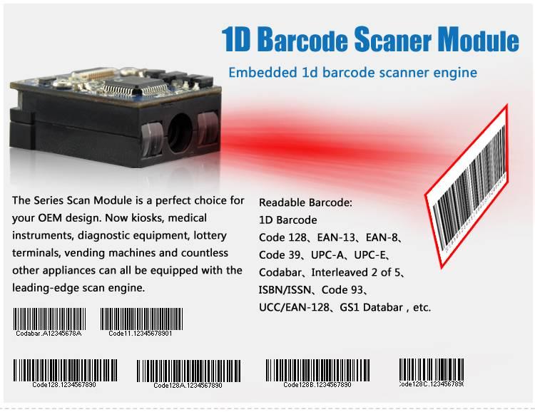 CCD Supermarket Barcode Scanner LV1400