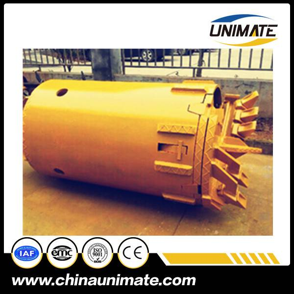 Manufacturer Foundation Drill Bucket Drilling Rig Auger Bucket Soil Rock Drilling Bucket With Double