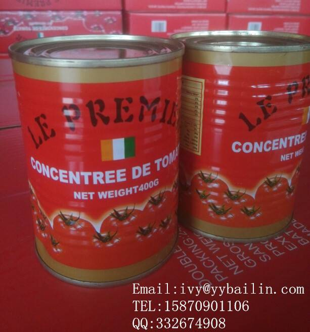 China delicious canned tomato paste, double concentrated 28-30%