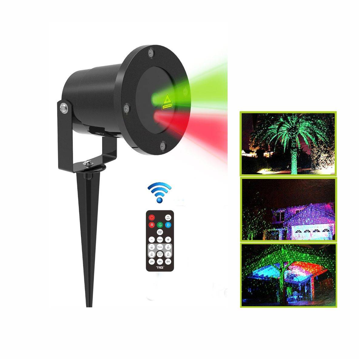 hot sale Red and green static firefly outdoor Christmas decoration garden laser light with CE