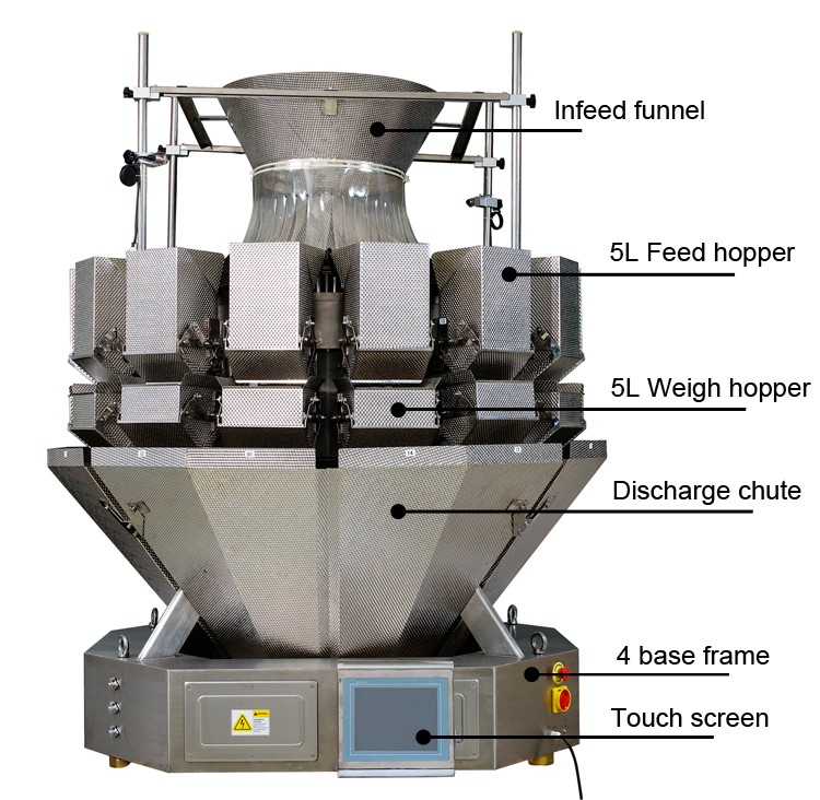 5L Strong Hopper Coal Packaging Machine For Charcoal