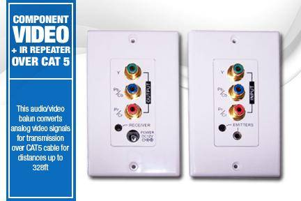 MACW503_In Wall IR repeater with Video plus Cat5/6