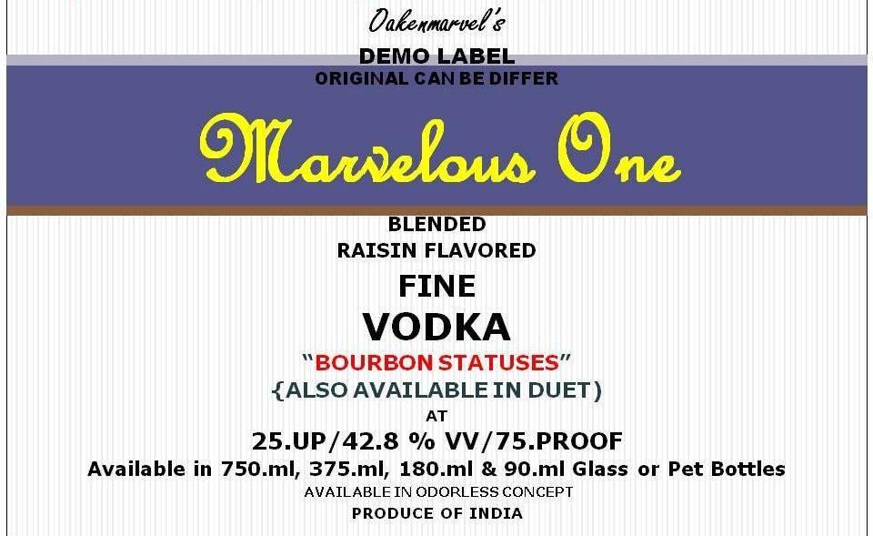 Fine Vodka (Bourbon Statuses)