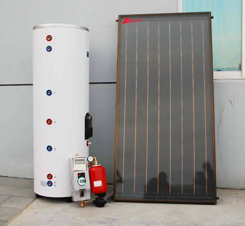 Cheapest most popular high quality low price China supplier flat panel solar water heater