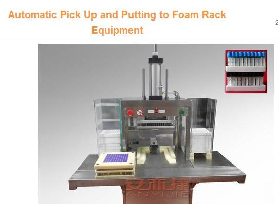 Automatic Pick Up and Putting to Foam Rack Equipment