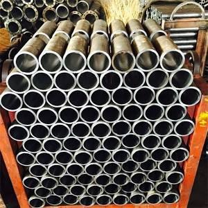 Honed seamless steel tube