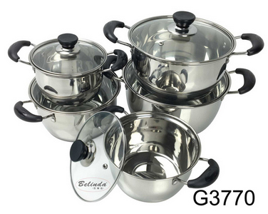 5pcs stainless steel mulit-size soup stock pots