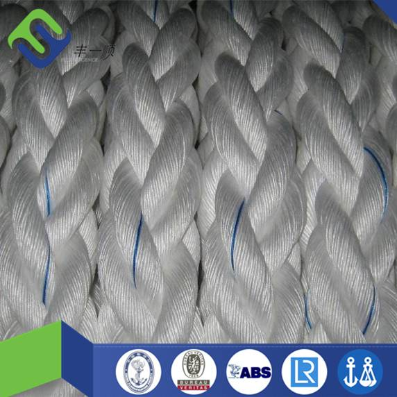 8 strand polyester rope in white color hot sale