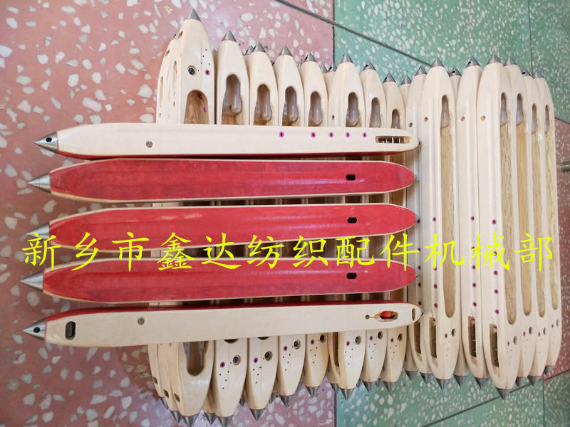 Wooden shuttle for shuttle loom and textile machinery