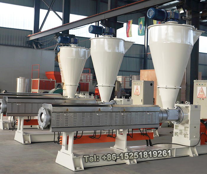 Plastic recycling Single screw extruder