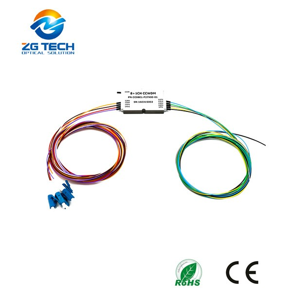 Low Insertion 8+1Channel Compact Mux Demux CWDM in Metro Network