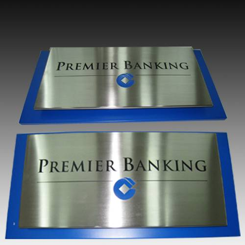 Hall Aluminum Metal Stainless Steel Wall Plaques Signs