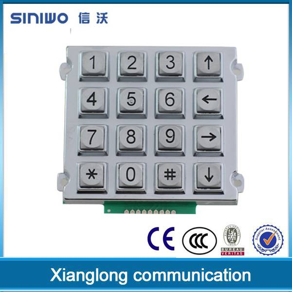3x4 matrix stainless steel metal led & illuminated usb metal numeric keypad