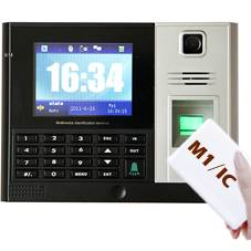 Fingerprint+M1(IC) Card Time Attendance with HD Color Camera