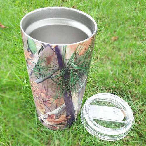 20 OZ Stainless Steel Camo Cups Keep Drink Hot or Cold