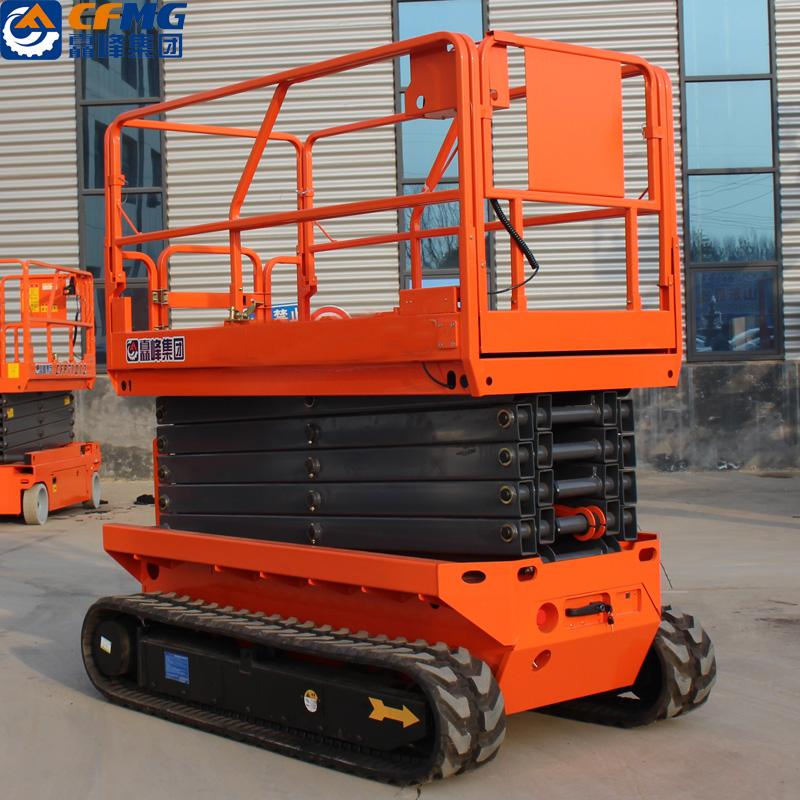 Crawler scissor lifts/outdoor rough terrain self-propelled scissor lift