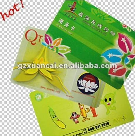 pvc business card with color printing