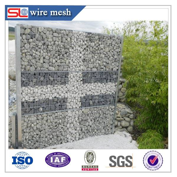 The stone cage gabion wall / Gabion Systems