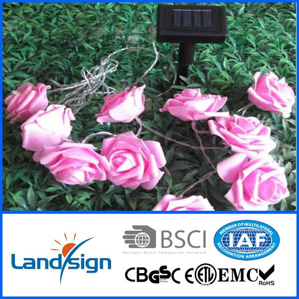 Decorative led flowers solar light string