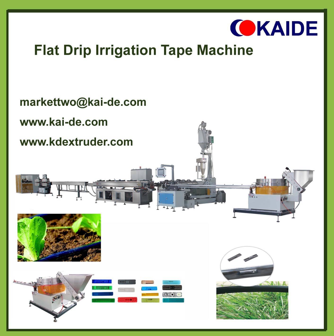 Flat Dripper Irrigation Tape Machine