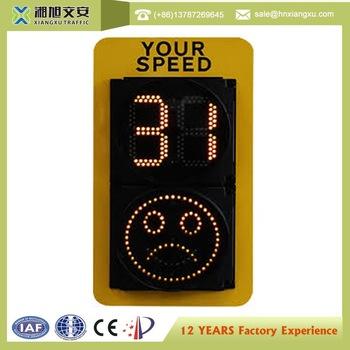 Solar radar speed LED sign for car
