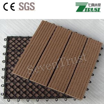 Environment-friendly durable wooden plastic composite decking