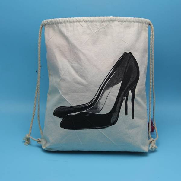Yuanjie wholesale customized cotton shoes bag with customized logo printed
