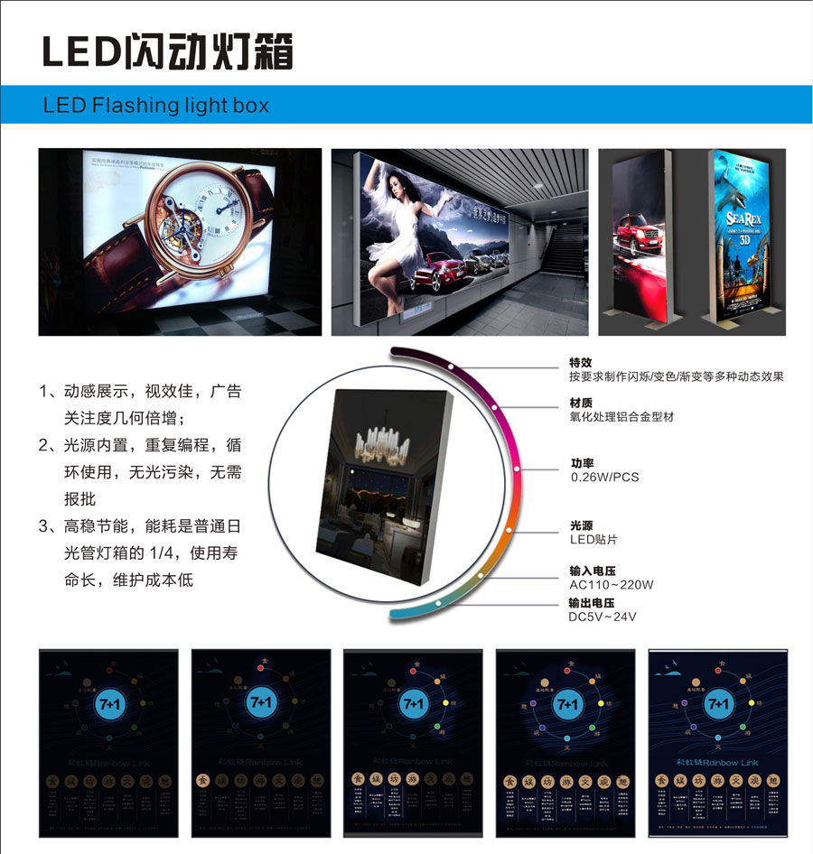 LED flashing light box