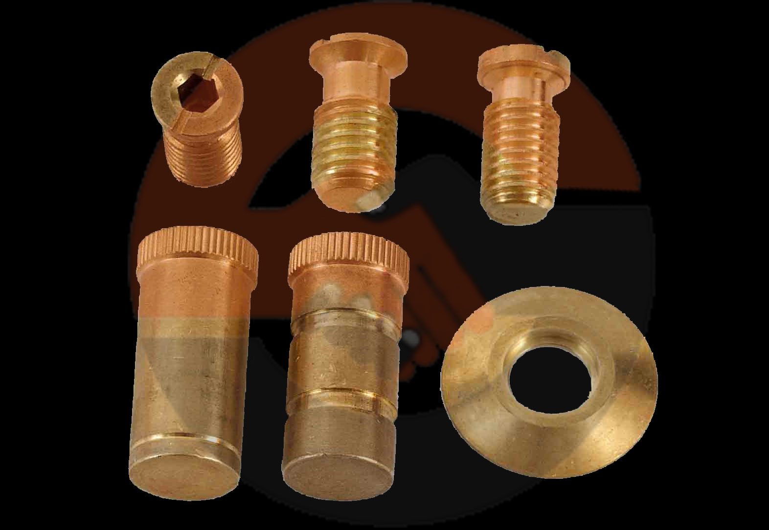 Brass anchor flanges
