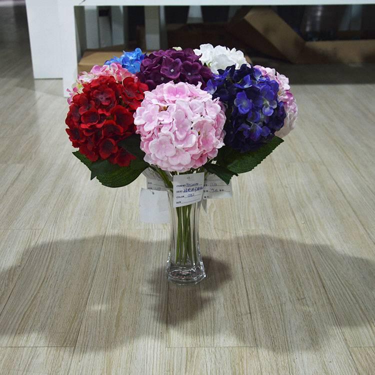 Plastic Silk Hydrangea Wedding Flower For Wedding And Wall Decoration