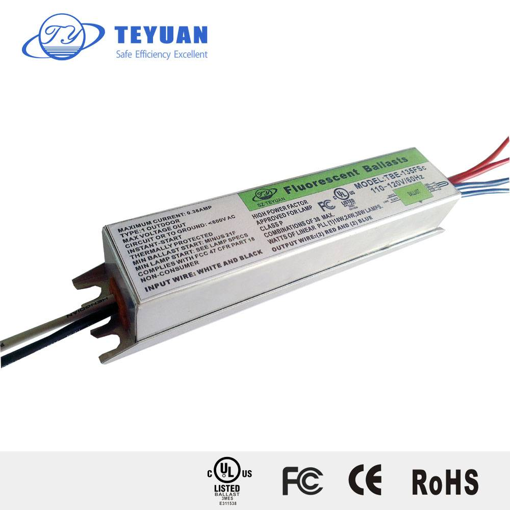 Electronic Fluorescent Ballasts for PL, PLC, PLL, PLT, CFL Lamps 4W-240W 100V, 110V, 120V, 127V, 220