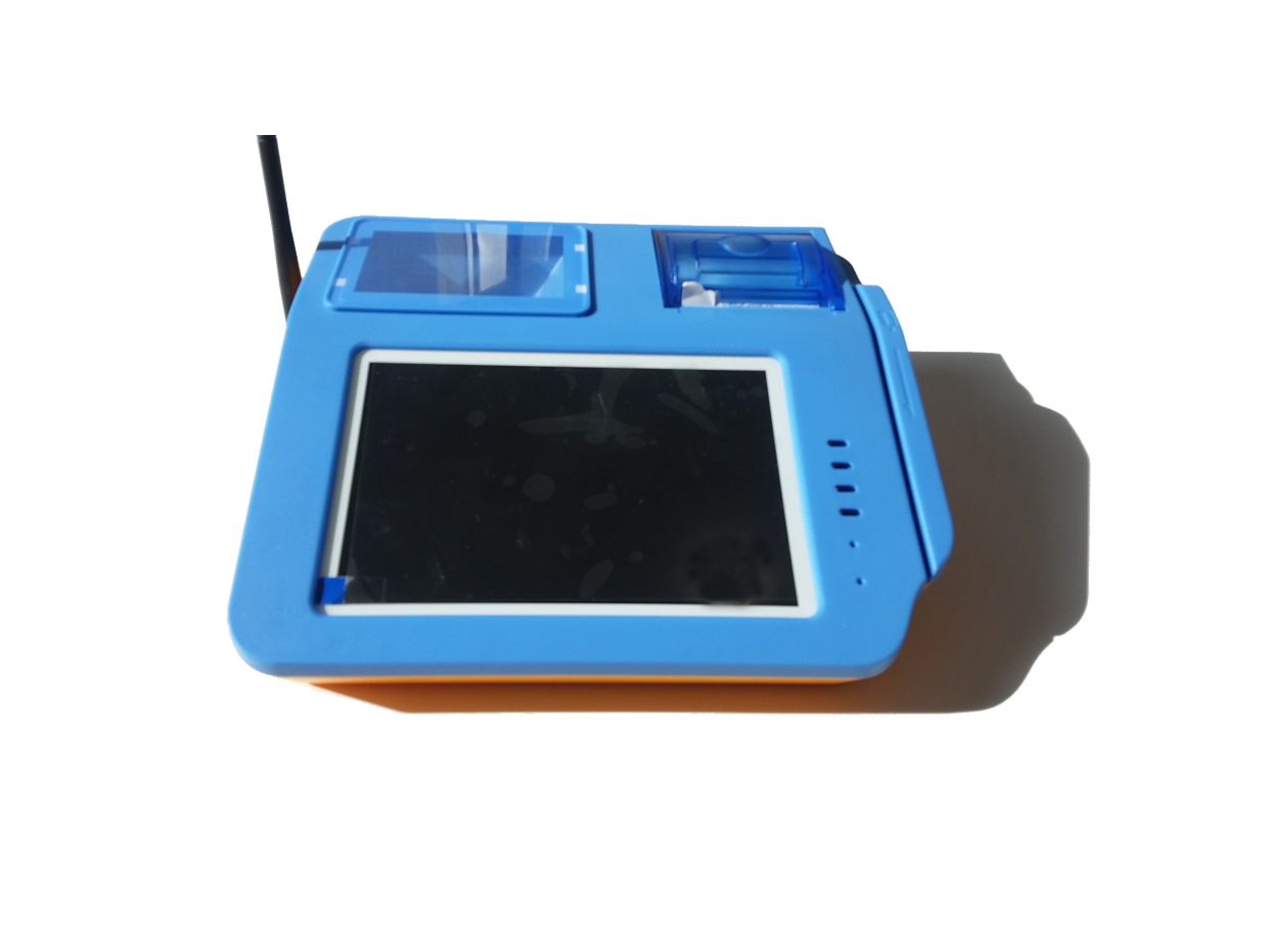 "7"" TFT LCD Display Tablet Android Pos With QR Barcode Reader And Fingerprint Scanner"