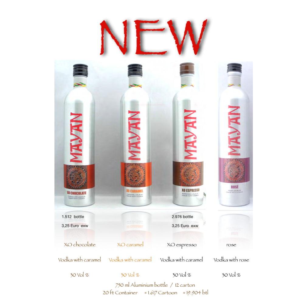 MAYAN Premium cocktail Liqueur - 750 ml Aluminium bottle